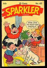 Sparkler Comics #45 Nice Golden Age Captain & the Kids United Features 1945 VG+