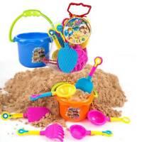 9x Sand Spielzeug für Sandkasten & Strand Eimergarnitur Eimer Formen Wasser Mühl