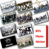 10Pcs / Set Kpop Bangtan Boys HD Lustre Photocard Crystal Card Sticker