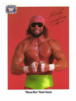 Randy Savage Autograph Pre Print Wrestling Photo 8x6 Inch WWF WCW Macho Man