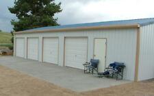 """Steel, Metal,  4-Car Garage with Shop, Building Kit"""