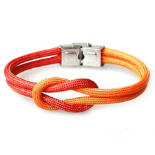 Trendy Mens Multi-Color Stainless Steel Buckle Bracelets Nautical Wristbands