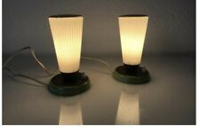 1960s Green And White Table Lamps