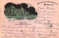 Paris France Expo Universelle Le Petit Palais Antique Postcard J69130