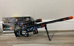 TOY Sniper Assault Rifle w/ Colored Flashing Lights Sound BIG Gun Flash NRA Toy