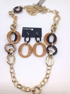 """CHICO'S """" BRAYDEN SINGLE """"   NECKLACE & EARRING SET NWTS"""