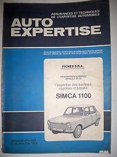 SIMCA 1100 - Revue technique Auto Expertise (catalogue pièces détachées)