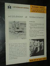 Prospectus IH INTERNATIONAL Rippers ATECO porté Tracteur MAC CORMICK Brochure TP