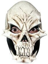 Mask Face Skull Devil Latex White Adult Fancy Dress Halloween