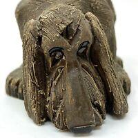 Vtg 1980s Artesania Rinconada BLOODHOUND DOG Figurine Uruguay Retired Signed