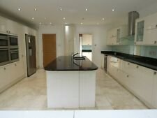 Complete Pale Cream Glossy Used Kitchen, All Units, Large Island, Appliances +