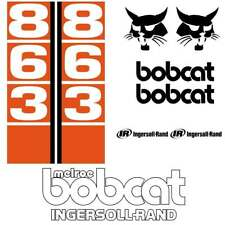 Bobcat 863 Decals Stickers, repro aftermarket kit
