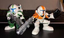 Playskool Star Wars Galactic Heroes REPUBLIC COMMANDO FIXER & BOSS 2 Figure Lot
