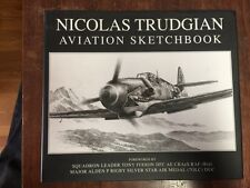 AVIATION SKETCHBOOK BY NICOLAS TRUDGIAN signed first edition FINE IN DJ