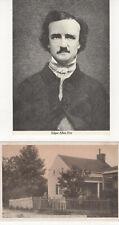 Postcards: (Lot of 2)  Edgar Allan Poe, Bronx, New Yotk  Real Photos  Unposted