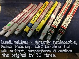 """17.75""""~Clear~SUPERIOR Replacement~60W Equal ~(9W)~LED~LUMILINE~Light Bulb Lamp"""