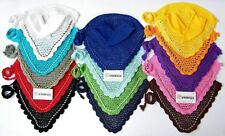 FLY VEIL HORSE EAR NET CROCHET WITH PIPING 14 COLORS FULL, COB, PONY AMIDALE NEW