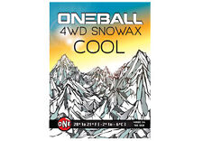 60g One Ball Jay 4WD Cool Yellow Ski Snowboard Wax | Mini Snowax Hot Waxing