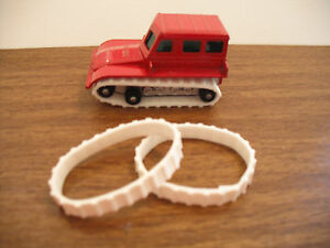 NEW TREADS! Matchbox SNOW TRAC TRACTOR 1 PAIR WHITE REPLACEMENT TREADS ONLY.