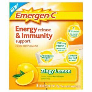 Emergen-C Immune Support Vitamin C, Zinc Antioxidants 15 nutrients, Lemon no box