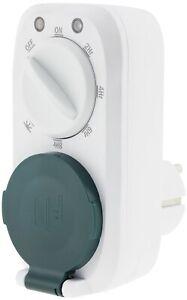 analoge Zeitschaltuhr mit Dämmerungs- & Countdown Funktion 16A IP44 für draussen