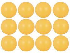 Table Tennis Balls Ping Pong Plain Logo Free 40mm White Orange Plastic UK SELLER
