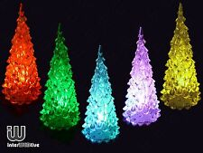 LED Battery Decorative Colour Changing Desk Table Top Christmas Tree 13cm tall