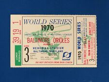 New Listing1970 World Series Ticket Stub Baltimore Orioles Game 3
