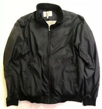 Mens PETER MILLAR Black Full Zip Lighweight Windbreaker Jacket Sz L