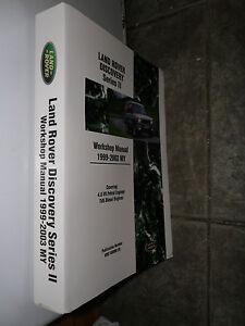 LANDROVER DISCOVERY SERIES II WORKSHOP MANUAL 1999 - 2003 PETROL V8 & TD5 ENGINE