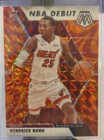 Kendrick Nunn 2019-20 Panini Mosaic SP Reactive Orange Prizm RC #268 Heat