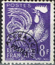 France Fauna Bird Chicken Rooster stamp 1966