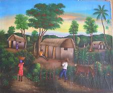 Vintage  Painting by Haitian Artist Jean Walton