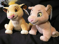SIMBA+NALA Mini PLUSH~Bean Bag~The Lion King~NWT~Disney Store