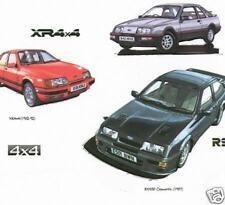 FORD SIERRA Stampa artistica - XR4i, XR4x4, RS Cosworth RS 500
