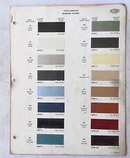 1965  CADILLAC DUPONT  COLOR PAINT CHIP CHART ALL MODELS ORIGINAL
