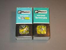 100 Panduit Ring Terminal Wire 14-10 Stud 6 Nylon Insul 2 Boxes Of 50 PN10-6R-L