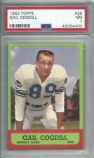1963 Topps football card #28 Gail Cogdill, Detroit Lions graded PSA 7