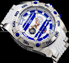 Invicta Men STAR WARS R2D2 Chronograph White Blue 52mm Ltd ED Strap Watch 26069