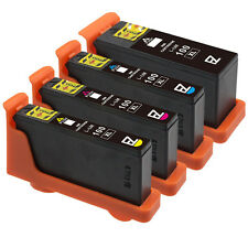 4 Pack 100XL 100 XL High Yield Black & Color Ink Cartridges for Lexmark