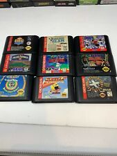 Vintage Sega Genesis Video Game Lot 9 Pac-Man, Bugs Bunny Clean And Tested