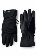 Lands' End BLACK Winter Snow Ski Gloves EZ-Touch 4 Phone XL-LARGE 10-10.5 25.5cm