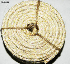 """25' Long Natural Unoiled Sisal Rope 1/4"""" Parts for Bird Parrot Toys"""