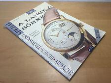 New - Magazine ARMBAND UHREN Spezial A. LANGE & SÖHNE - English - Watches