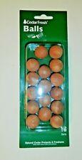 Cedar Balls Natural Red Cedarwood 1 Package 16 Balls