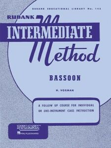 Rubank Intermediate Method for Bassoon by H. Voxman Music Lessons Studies Scales