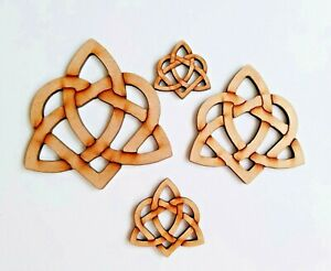Laser Cut MDF Rustic Wooden Celtic Knot  -   40mm to 100mm, Craft,