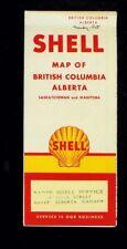 1950's Shell British Columbia, Alberta foldout map