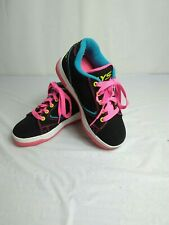 Heelys Propel 2.0 770512 Black Neon Pink Skate Wheeled Shoes Youth Size 1