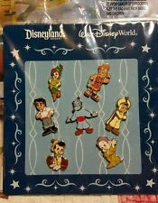 Disney Pins Booster Pack Set of 7 Boys  Hercules Dopey,Peter Pan, Aladdin & more